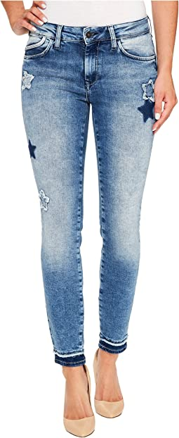 Mavi Jeans - Adriana Mid-Rise Super Skinny Ankle in Patchoff Star Blocking