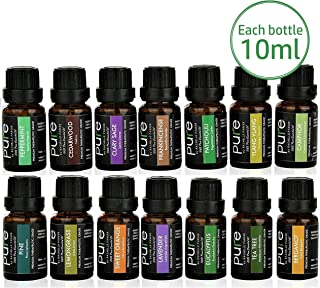 14 PURE Essential Oils Set Variety Pack. FRANKINCENSE, PATCHOULI, CLARY SAGE, BERGAMOT, LAVENDER, YLANG YLANG, CAMPHOR, CEDARWOOD, PINE, TEA TREE, LEMONGRASS, ORANGE, EUCALYPTUS, PEPPERMINT!