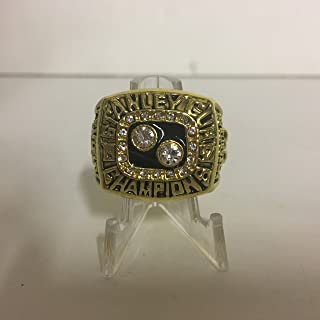 1992 Mario Lemieux #66 Pittsburgh Penguins High Quality Replica Stanley Cup Ring Size 11-Gold Colored