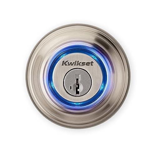 Kwikset - Kevo 99250-202 Kevo 2nd Gen Bluetooth Touch-to-Open Smart Keyless Entry Electronic Deadbolt Door Lock Featuring SmartKey Security, Satin Nickel