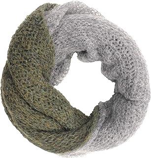 CG - Talento Fiorentino, scaldacollo tubolare lavorato a maglia, invernale, sciarpa ad anello intrecciato a due colori Ver...