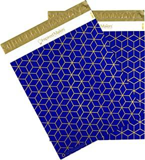 Inspired Mailers - Poly Mailers 12.5x15.5 - Geometric Cubes Deluxe - 100 Pack - 3.15mil Unpadded Shipping Bags - Mailing Envelopes (12.5x15.5, 100 Pack)