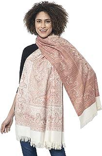 "Weavers Villa Women's Pashmina Wool Blend Indian Handicraft Woven Shawls, Scarf, Wraps [Large Size: 40"" X 80""]"