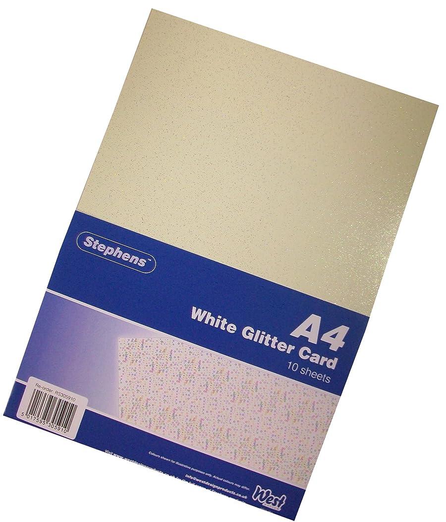 Stephens A4 220 Gsm Glitter Board - White