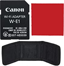 Canon Wi-Fi Adapter W-E1 (1716C001) Bundle with SD and CF...