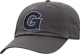 (Georgetown Hoyas) - Top of the World NCAA Men's Adjustable Relaxed Fit Charcoal Icon Hat, Charcoal