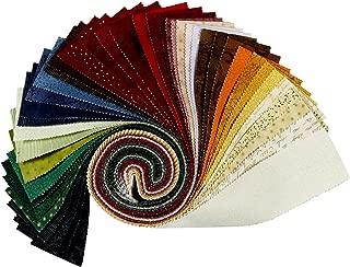 Stof Fabrics of Denmark Stoffabrics Denmark Quilters Basic 2.5 Inch Strips 42 Pcs Fabric, 1, Multi