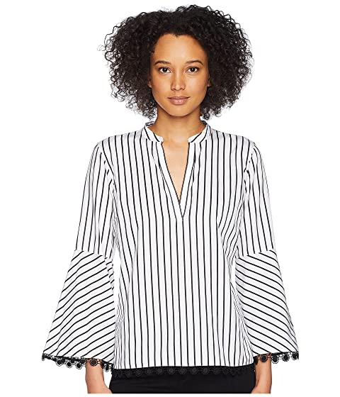LAUREN Ralph Lauren Cotton Bell-Sleeve Top White/Polo Black Buy Cheap Clearance Best Wholesale Cheap Price For Cheap Sale Online Buy Cheap Cheapest Price With Paypal Cheap Price hPnGMU9U