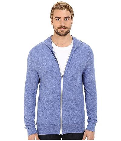 Alternative L/S Zip Hoodie (Eco Pacific Blue) Men
