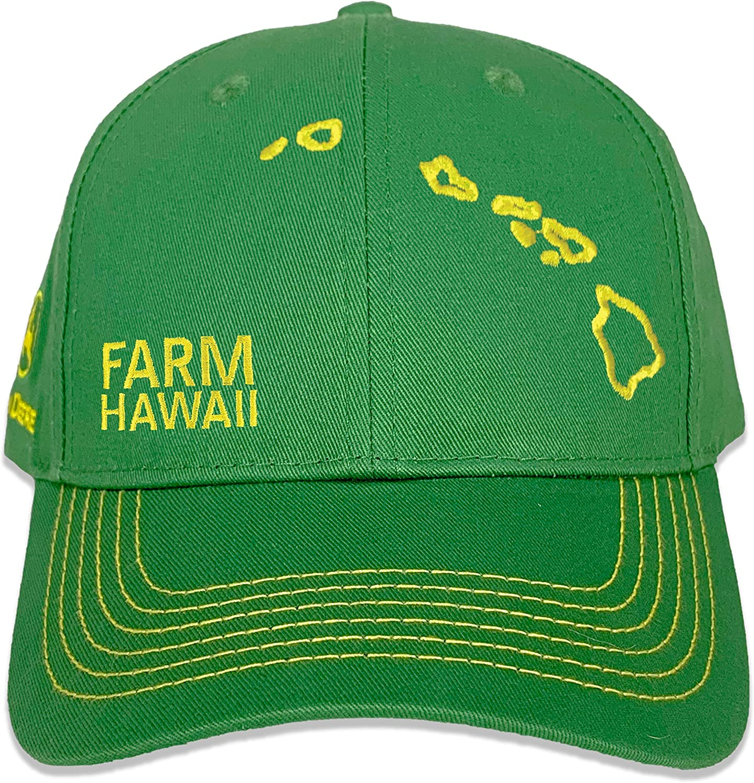 John Deere Farm State Pride Full Twill Hat-Green and Yellow-Hawaii