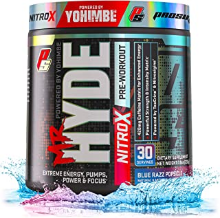 ProSupps� Mr. Hyde� NitroX Pre-Workout Powder Energy Drink - Intense Sustained Energy, Pumps & Focus with Beta Alanine, Creatine & Nitrosigine, (30 Servings, Blue Razz Popsicle)