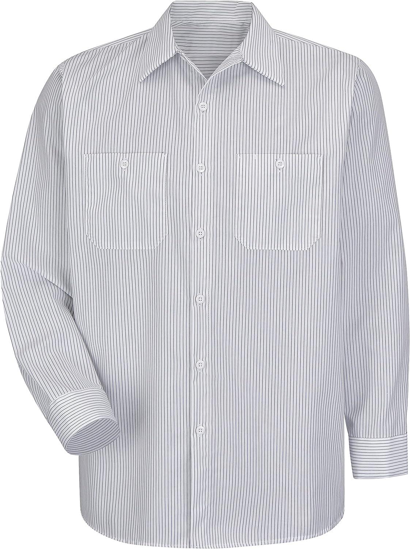 Red Kap Mens RK Industrial Stripe Work Shirt