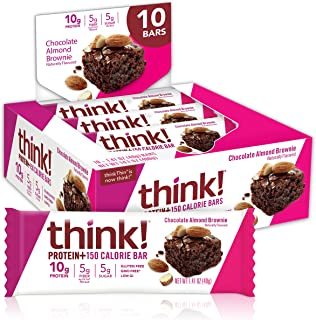 think! Protein+ 150 Calorie Bars 10g Protein, 5g Sugar, No Artificial Sweeteners, Gluten GMO Free, (1098182), Chocolate Al...