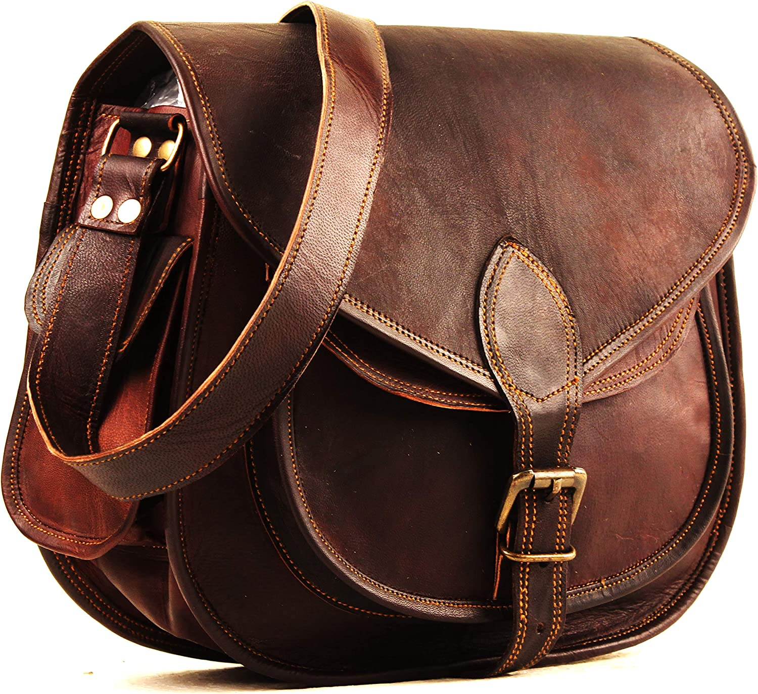 Leather Crossbody Purses Bags For Women   Small Vintage Look Leather Purses And Handbags For Women   Leather Satchel For Women   Diaper Bag for Ladies