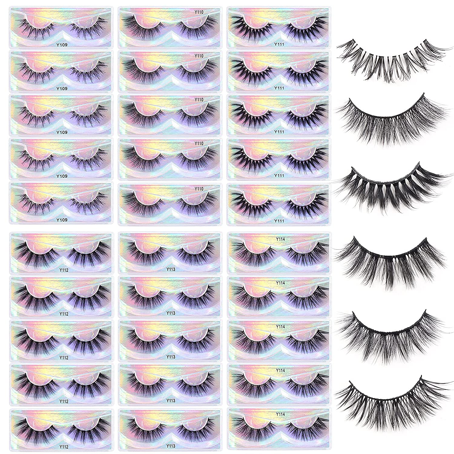 Financial sales sale MAGEFY 30 Pairs Lashes New 6 Ranking TOP1 Natural Style Eyelashes to Dr Look