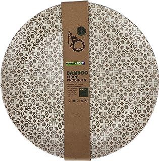 Royalford 3piece Set 10inch Bamboo Fiber Dinner Plate, Multi-Colour, RF9625
