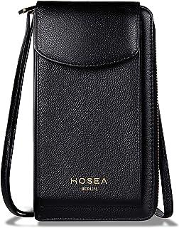 Hosea Handytasche mit Geldbörse zum Umhängen aus Echtleder, Handytasche zum Umhängen Damen, Handy Umhängetasche | Handy Po...