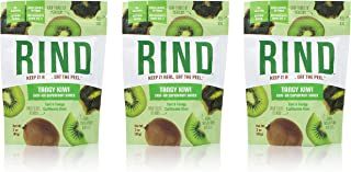 RIND Snacks Tangy Kiwi Peel-Powered Dried Superfruit, No Sulfites, No Added Sugar, High Fiber, Antioxidant-Rich, Non-GMO, Gluten-Free, Vegan, 3oz, Pack of 3