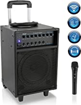 Pyle Wireless Portable PA System-400W Bluetooth Compatible Rechargeable Battery Powered..