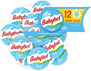 Mini BabyBel Cheese, Light, 4.5 Ounce (Pack of 12)