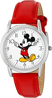 Women's 'Mickey Mouse' Quartz Metal Watch, Color:Red...