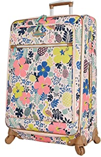 Luggage Large Expandable Design Pattern Suitcase With Spinner Wheels For Woman (Trop Pineapple, 28in)