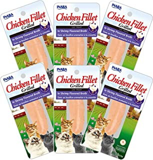 INABA Grilled Chicken Fillet in Shrimp Broth 6 Packs, 25 Grams (USA555A)