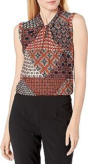 Women's Knot Neck Sleeveless-Knit-top