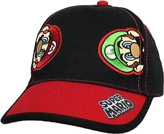 ddaf620d1ae73 Nintendo Super Mario and Luigi Black Cotton Baseball Cap – Size Boys  4-14