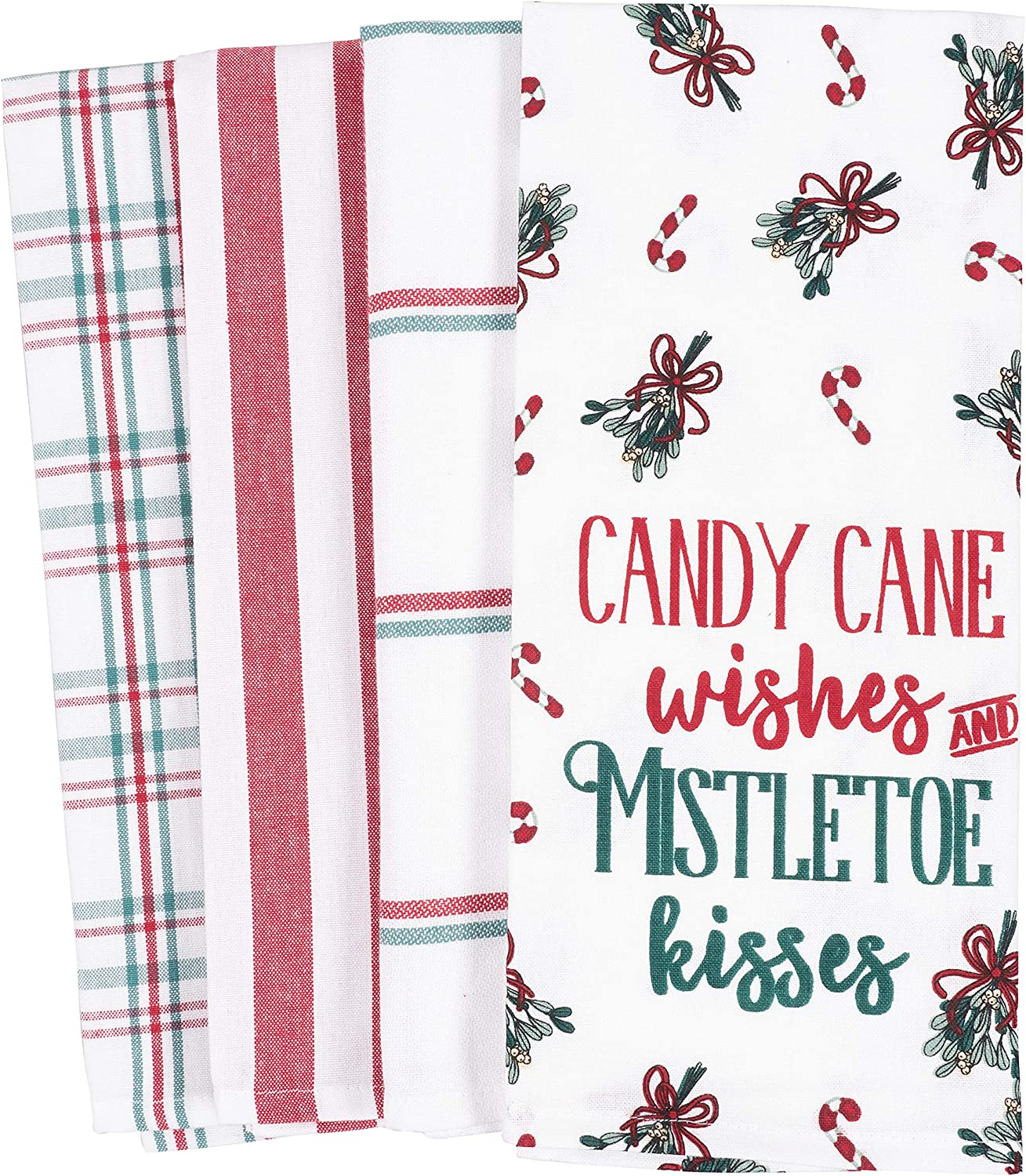 Max 44% OFF KAF Home Pantry Kitchen Holiday Dish Towel Set 4 Spasm price of 100-Percent