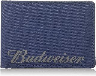 Budweiser by Buxton - Billetera Plegable para Hombre, Azul Oscuro (Azul) - IM820.BL-420-N/A
