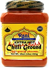 Rani Extra Hot Chilli Powder Indian Spice 16oz (454g) ~ All Natural, No Color added, Gluten Free Ingredients | Vegan | NON-GMO | No Salt or fillers
