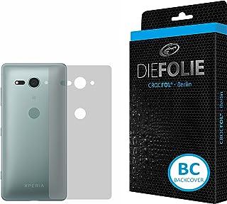 Sony Xperia XZ2 kompakt skärmskydd för bakstycke (2 pack) DIEFOLIE – tillverkad i Tyskland, antibakteriell tätning flytand...