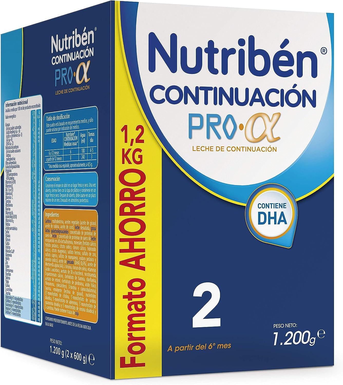 Nutribén Continuación ProAlfa 2 Leche en polvo de Continuación para bebés- de 6 a 12 meses- Formato ahorro 1 unidad 1200g