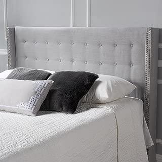 Christopher Knight Home Josephine Light Grey Fabric Full/Queen Headboard