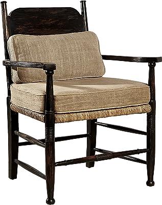 Sloane Elliot SE0265 Teya Wooden Arm Chair, Espresso, Set of 2