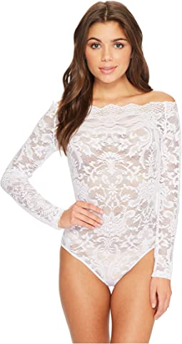 Felina - Eliza Off Shoulder All Lace Bodysuit