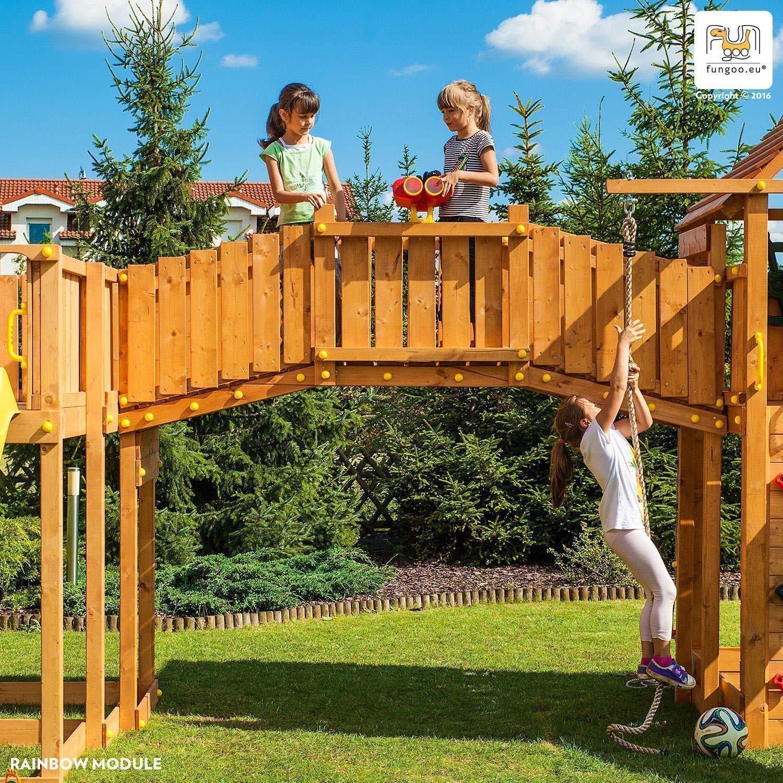 Plataforma de juegos de madera Rainbow Fortress: Amazon.es: Jardín