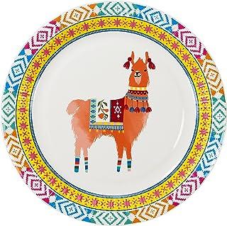 Talking Tables Boho-Plate-Llama-M Truly Chintz Cakestand, Papier, Multicolores, 2,5 x 22,7 x 22,7 cm