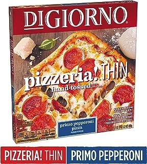 DIGIORNO Pizzeria! Thin Hand-Tossed Style Thin Crust Primo Pepperoni Frozen Pizza, 17.2 oz.   Made with Mozzarella Cheese