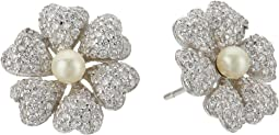 Nina Pluma Pearl Flower Earrings
