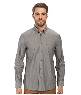 Roll Up Sleeve Shirt w/ Button-Down Collar Single Pocket
