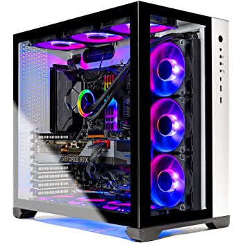 Skytech Prism II Gaming PC Desktop - AMD Ryzen 9 3900X 3.8GHz, RTX 3090 24GB, 32GB 3600mhz RGB Memory, 1TB Gen4 SSD, X570 Motherboard, 360mm AIO, White