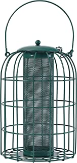 PHI VILLA Bird Feeder - Squirrel Proof - Caged Tube Feeder, Green