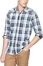 Lucky Brand Men's Casual Long Sleeve Plaid Button Down Western Shirt