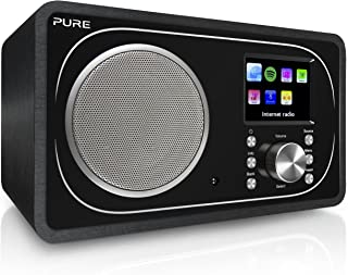 Pure Evoke F3 Internet DAB/DAB+ Digital and FM Radio, Internet Radio/Digital Radio with Spotify Connect and Bluetooth, Black