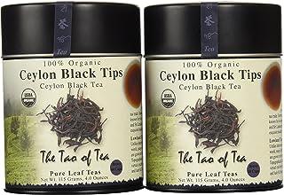 The Tao of Tea, Ceylon Black Tips Black Tea, Loose Leaf, 4-Ounce Tins (Pack of 2)