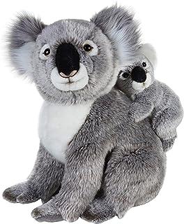 Geographics Koala Los Animales de Peluche Madre con el bebé de Juguete de Felpa Nacional (2-Piece, Natural)