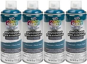 Bulk buy: Tulip ColorShot Outdoor Upholstery Spray Paint 8 oz. 4-pack, Peacock