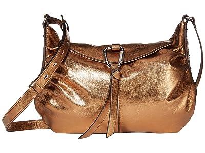 Vince Camuto Lysa Large Crossbody (Metallic Bronze) Handbags